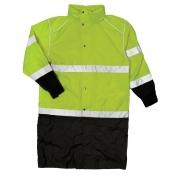 ML Kishigo RWJ108 Brilliant Series Long Raincoat - Yellow/Lime