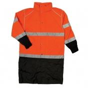 ML Kishigo RWJ109 Brilliant Series Long Raincoat - Orange