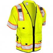 ML Kishigo S5010 Professional Class 3 Surveryor Safety Vest - Yellow/Lime