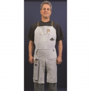 Memphis 38236MW Leather Welding Bib Apron with Split Legs - 24\\\