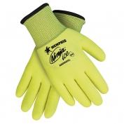 Memphis N9690HV Hi-Viz Ninja Ice Gloves - 15 Gauge Yellow Nylon Shell - HPT Foam Coating