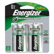 Energizer Rechargeable D Batteries 2-pack