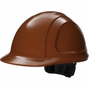 Honeywell N10R120000 North Zone Hard Hat - Ratchet Suspension - Brown