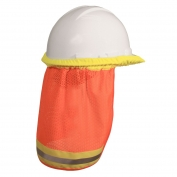 Radians NSO Self Extinguishing Hard Hat Neck Shade - Orange