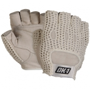 OK-1 Half Finger Lifters Gloves with Cotton Mesh Back