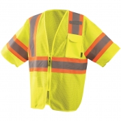 OccuNomix  ECO-IMZ32T Class 3 Economy Two-Tone Mesh Safety Vest - Yellow/Lime