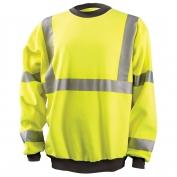 OccuNomix LUX-CSWT Crew Sweatshirt - Yellow/Lime