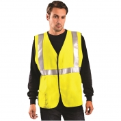 OccuNomix LUX-HRC2FR Class 2 Solid HRC2 FR Safety Vest - Yellow/Lime