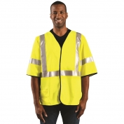 OccuNomix LUX-HSG3FR Class 3 Solid FR Safety Vest - Yellow/Lime