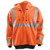 OccuNomix LUX-HZSWT Full Zip Hoodie - Orange