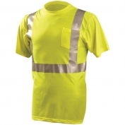 OccuNomix LUX-SSETP2 Class 2 Wicking Safety T-Shirt - Yellow/Lime