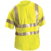 OccuNomix LUX-SSETP3 Class 3 Wicking Safety T-Shirt - Yellow/Lime