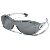 Crews Law OTG Safety Glasses - Silver Frame - Gray Anti-Fog Lens