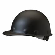 Fibre Metal P2ARW Roughneck Hard Hat - Ratchet Suspension - Black