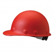 Fibre Metal P2ARW Roughneck Hard Hat - Ratchet Suspension - Red