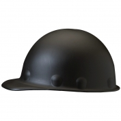 Fibre Metal P2AW Roughneck Hard Hat - TabLok Suspension - Black