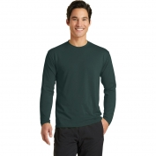 Port & Company PC381LS Long Sleeve Essential Blended Performance Tee - Dark Green