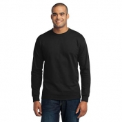 Port & Company PC55LST Tall Long Sleeve 50/50 Cotton/Poly T-Shirt - Jet Black