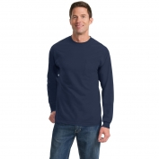 Port & Company PC61LSP Long Sleeve Essential T-Shirt with Pocket - Navy
