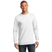 Port & Company PC61LS Long Sleeve Essential T-Shirt - White