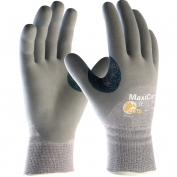 PIP 19-D475 MaxiCut Seamless Knit Dyneema/Engineered Yarn Gloves - Nitrile Coated Foam Grip on Palm, Fingers & Knuckles