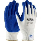 PIP 19-D813 G-Tek CR Ultra Seamless Knit Dyneema Gloves - Latex Coated Crinke Grip on Palm & Fingers - Medium Weight