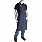 Reusable Bib Style One Pocket Denim Apron 28 in. X 38 in.
