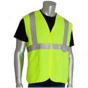PIP 305-2000 Class 2 Solid FR Safety Vest - Yellow/Lime