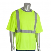 PIP 312-1200 Class 2 Short Sleeve Safety T-Shirt - Yellow/Lime