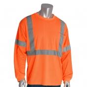 PIP 313-1300 Class 3 Long Sleeve Safety T-Shirt - Orange