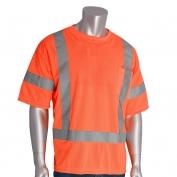 PIP 313-CNTSE Class 3 Short Sleeve Safety T-Shirt - Orange