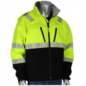 PIP 333-1550 Class 3 Rip Stop Black Bottom Jacket - Yellow/Lime