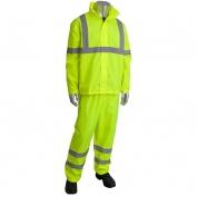 PIP 353-1000LY Flacon Viz Class 3 Two-Piece Value Rainsuit - Yellow/Lime