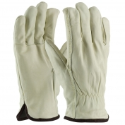 PIP 77-218 Premium Grade Top Grain Cowhide Leather Gloves - White Thermal Lining - Straight Thumb