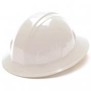Pyramex HP24110 Full Brim Hard Hat - 4-Point Ratchet Suspension - White