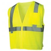 Pyramex RVZ2110SE Class 2 Self Extinguishing Mesh Safety Vest - Yellow/Lime