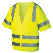 Pyramex RVZ3110 Class 3 Mesh Safety Vest - Yellow/Lime
