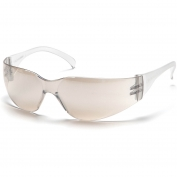 Pyramex Intruder Safety Glasses - Clear Temples - Indoor/Outdoor Mirror Lens