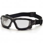 Pyramex I-Force Safety Glasses/Goggles - Black Frame - Clear Anti-Fog Lens