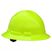 Radians QHP4 Quartz Full Brim Hard Hat - 4-Point Pinlock Suspension - Hi-Viz Green