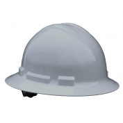 Radians QHR4 Quartz Full Brim Hard Hat - 4-Point Ratchet Suspension - Gray