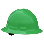 Radians QHR4 Quartz Full Brim Hard Hat - 4-Point Ratchet Suspension - Green