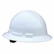 Radians QHR6 Quartz Full Brim Hard Hat - 6-Point Ratchet Suspension - White