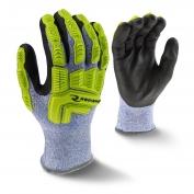 Radians RWG604 Cut Level 5 Cold Weather Work Gloves - Hi-Viz TPR Impact Protection