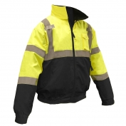 Radians SJ110B-3ZGS Class 3 Two-in-One Bomber Jacket - Yellow/Black