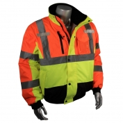 Radians SJ12-3ZMS Class 3 Multi-Color Bomber Jacket - Yellow/Lime & Orange