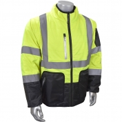 Radians SJ510 Class 3 Quilted Reversible Safety Jacket - Zip-Off Sleeves