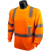 Radians ST24-3POS Class 3 Mesh Safety Shirt with UV Protection - Orange
