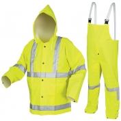 River City 2083SR Luminator Class 3 Rain Suit - Yellow/Lime