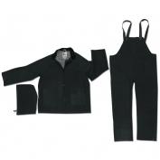 River City 2473 Classic Plus 3-Piece Rain Suit - Black